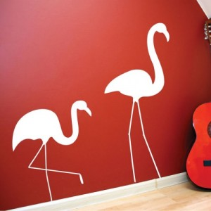 stickers flamants roses