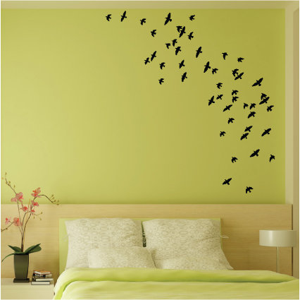 coller des stickers oiseaux dans votre chambre. Black Bedroom Furniture Sets. Home Design Ideas